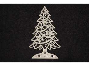 Christmas Tree with Snowflake Ornaments