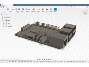 Raspberry Pi 3B+ model for case fitting with Fusion 360 file