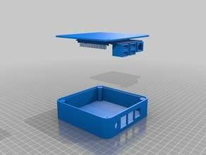 Raspberry Pi 2, 3 square round case (enclosure)