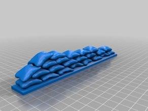Smaller Sandbags / Sandsäcke Deckung für z.B. Warhammer 40k (Space Marines /Orks...) Tabletop