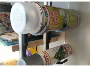 Spray can holder push-pin for Hang Rails