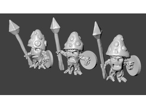 Cursed Mushroom Warrior Miniatures