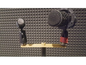 Double Dual Stereo Microphone holder