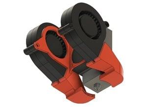 FT-6 Dual Extruder Dual Fan Bracket
