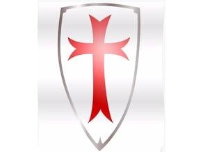 Templar Shield mini-figure