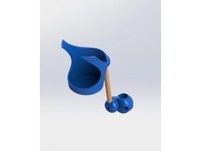 Soporte para Vaso para silla de ruedas V2 // Wheel Chair Cup Holder V2