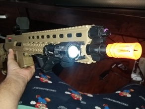 Airsoft Flash Light Mount Picanny Rail
