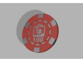 Dual Color Poker Chip