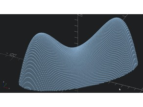 Saddle point function in OpenSCAD