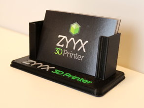 ZYYX Business Card Holder - Multi Material Print
