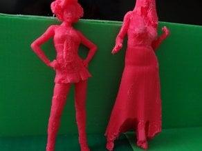 Sculptures of Barbie and Cinderella
