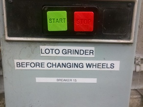 START and STOP buttons for breaker panels