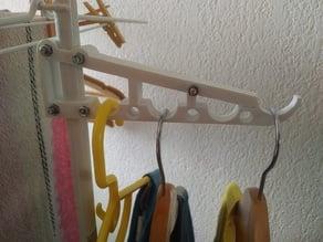 adaptateur pour cintre pour étendoir - laundry rack hanger adaptator
