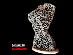 Female body, Remix,  style Voronoi version  4