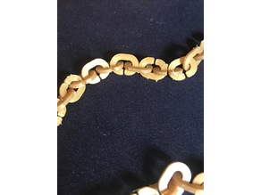 Chain Link and Boomerang Necklace