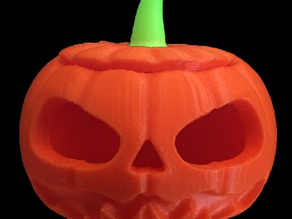 Two color jack-o-lantern print for dual makerbot printers