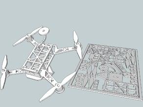 Flat Drone - Racing quad