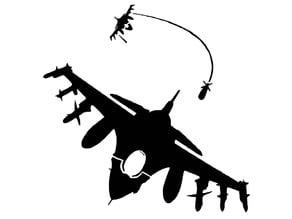 Jet Fighter stencil
