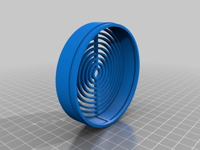80mm Raised Fan Cover 2 Pieces