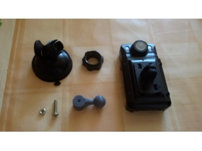 16 mm ball to GoPro-like DVR camera adapter