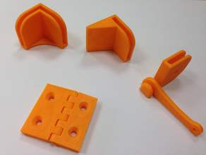 Parts to close the printer Prussian i3