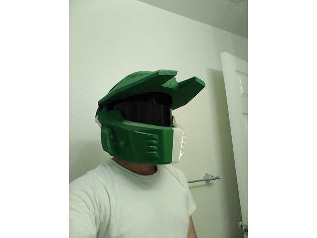 halo 4 mk v mjolnir helmet by B00ley