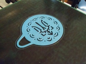 Ukrainian Trident latte Stencil