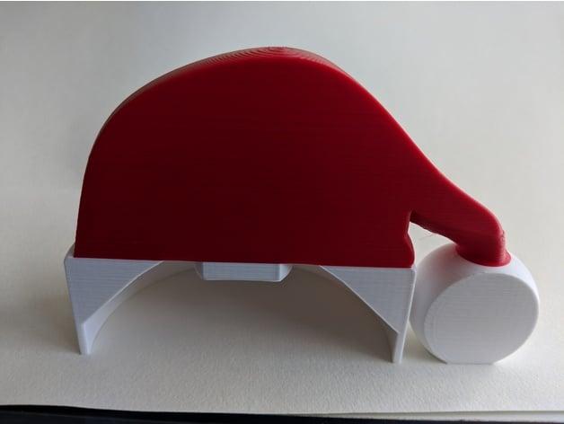 customisable christmas blocks man toilet paper holder with santa hat