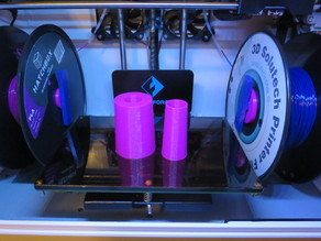 Flashforge Dreamer tall spool rod holders (left & right) and long spool rods