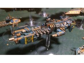 Space Marine Strike Cruiser proxy for Battlefleet Gothic