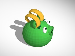 Loki green piggy from angry birds