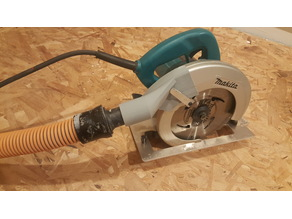Makita 5007 circular saw dust collector port