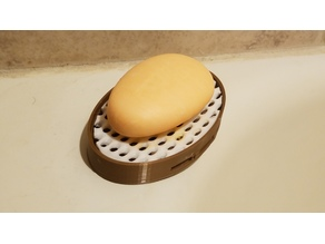 Large and small 2 piece soap dishes