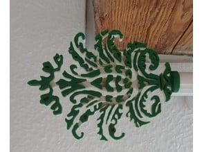 Curtain rod ornament