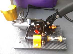 sim racing hydraulic e-brake 3d print parts