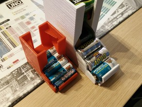 Compact Tabletop Battery Holder for C batteries