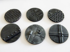 Wargaming bases: 40mm industrial bases