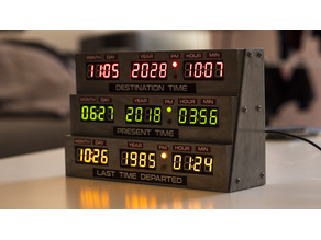 Delorean clock - Back to the future style