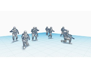 Snowtrooper Battle poses; Pack 1