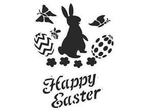 Happy Easter Stencil