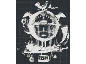 Steampunk V2 2D Wall Art
