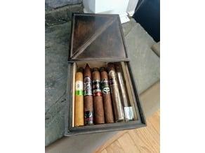"""Humidor - """"Cross Brace"""" 10 Cigar Humidor"""