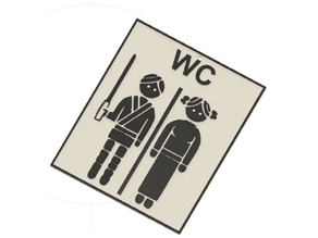 Plaque WC StarWars