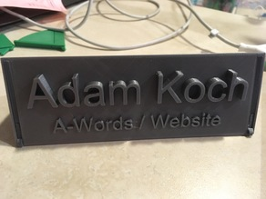 Foldable/Retractable Name Plaque/Plate