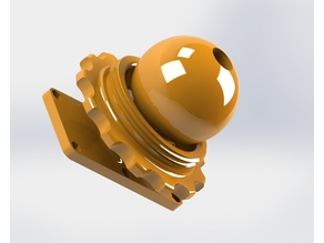 Adjustable joint with ball and nut.