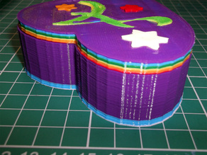 Multicoloured Heart Box for someone special.