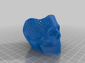 Wireframe Skull Pencil Holder (Flat base)