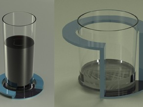Logo as a glass pad/holder