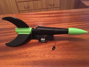 RC rocket missile with drop mechanism