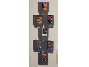 Modular NES Game Wall Hangers (Nintendo Entertainment System) UPDATED 2015-08-21